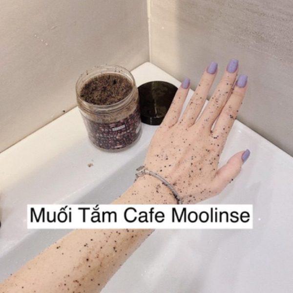 muối tắm cafe moolinse