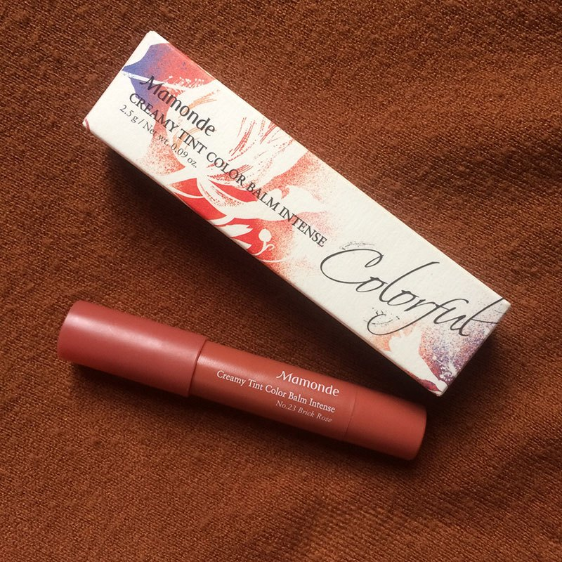 Review Mamonde creamy tint color balm intense 23 brick rose – cam nâu