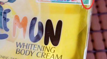 cách phân biệt kem body lemon thật giả