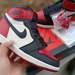 Giày Air Jordan 1 đỏ đen trắng cổ cao